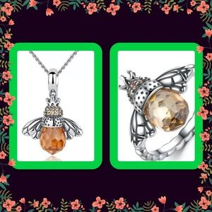Bumble bee steampunk jewelry set NWOT